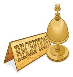recepcionar receptionar resize vector image
