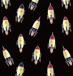 Rocket ship background vector