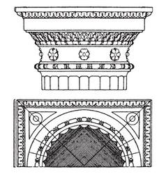 Roman-doric capital an antique design vintage vector