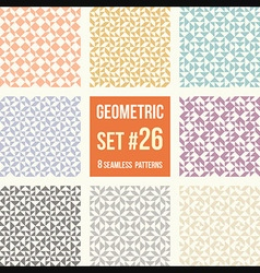 Set of eight geometric patterns vector image