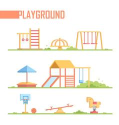 Set of playground elements - modern cartoon vector