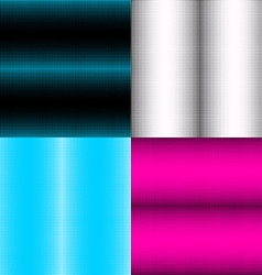 Set of seamless patterns with cross halftone vector image