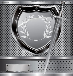 shield and sword vector image
