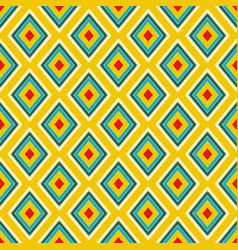Textile print bright rhombuses repeat vector