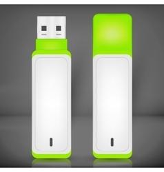 Usb flash drive isolated vector