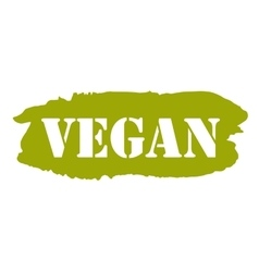 Vegan hand drawn isolated label vector