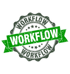 Workflow stamp sign seal vector