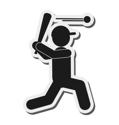 Baseball pictogram icon vector