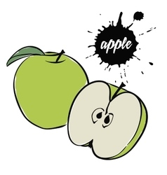 Green apple fruit vector