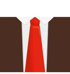 Orange necktie man shirt father day vector