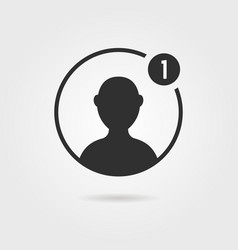 Black male user icon with shadow vector