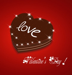 Valentine day be my sweet chocolate cake vector