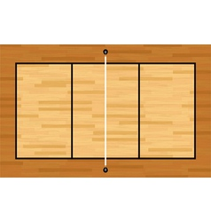 Volleyball hardwood court vector