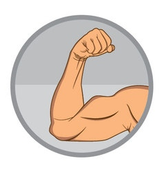 Muscular biceps eps10 vector