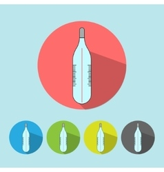 Medical icon thermometer tool vector