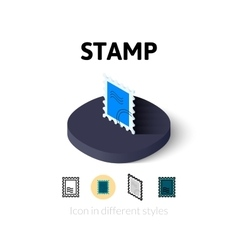 Stamp icon in different style vector