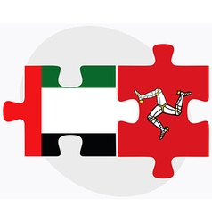 United arab emirates and isle of man flags vector