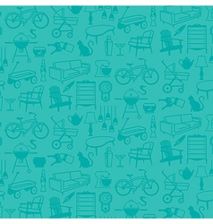 Seamless pattern of Retro Home Icons vector image