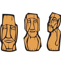 Moai statues vector image
