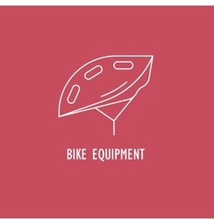 Modern of bicycle helmet vector