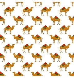 Seamless pattern with camel vector