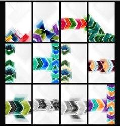 Collection of arrow abstract backgrounds vector