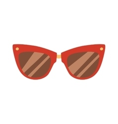 Fashion red glasses vector