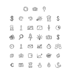 Universal doodle icons for mobile and web vector
