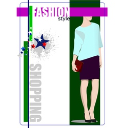 al 0412 shopping 03 vector image vector image