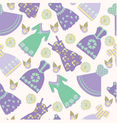 background with various womens clothing fashion vector image vector image