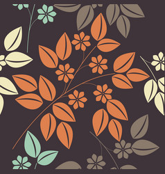 beautiful endless pattern with colorful floral vector image vector image