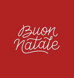 Buon natale calligraphic line art typography vector
