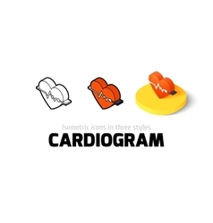 Cardiogram icon in different style vector