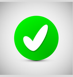 Check mark sign icon ok accept valid button vector