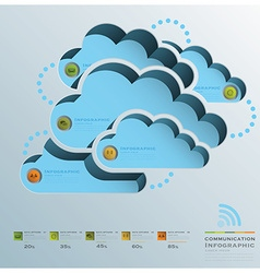 Cloud shape communication business infographic vector