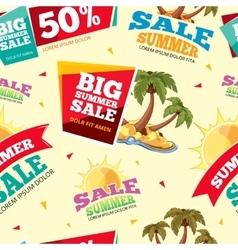 Emblems for big summer sales vector