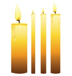 Glowing Candles Set4 vector image