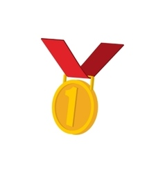 Golden medal cartoon icon vector image vector image