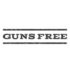 Guns free watermark stamp vector
