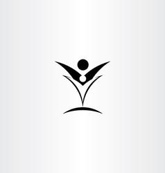 happy people black sign logo icon vector image vector image