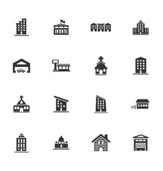infrastructure city icons set vector image
