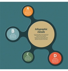 metaball infographic vector image vector image