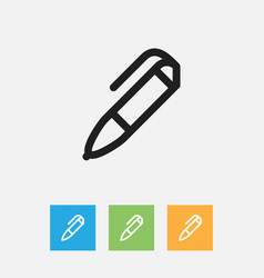 Of education symbol on pencil vector