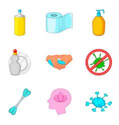 personal hygiene icon set cartoon style vector image