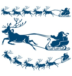 reindeer and santa claus vector image vector image