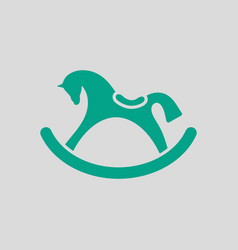 Rocking horse ico vector
