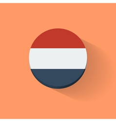 Round icon with flag of Netherlands vector image vector image