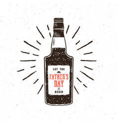Rum bottle in retro style with sigh - let the vector