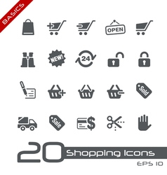 Shopping basics series vector