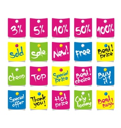 Shopping Sales Tag vector image